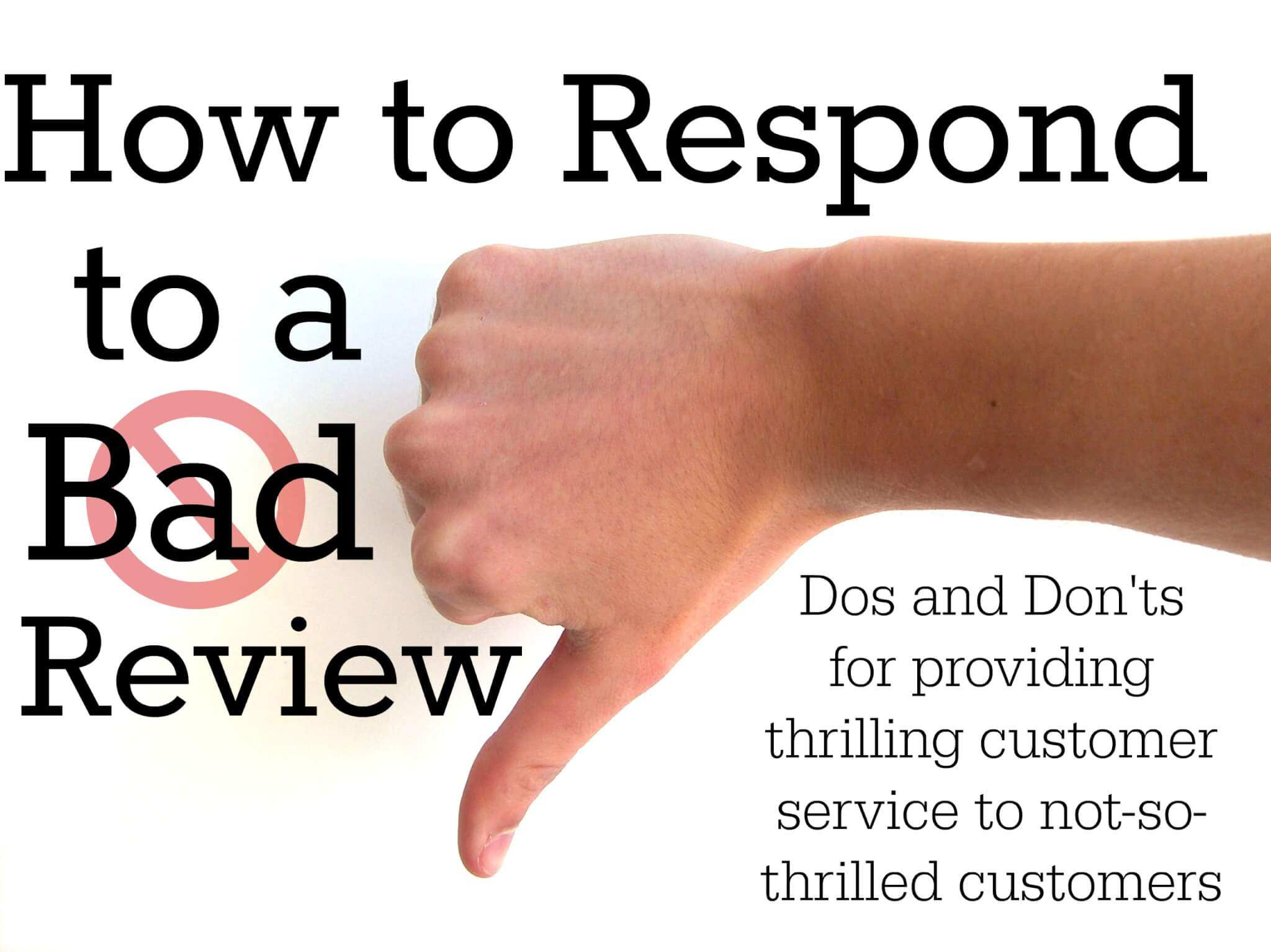 How To Respond To A Bad Review